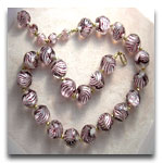 Lavendar Lined Beads