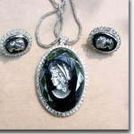 Cameo Necklace & Earrings