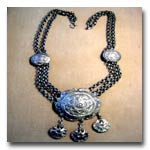 Exotic chain and Pendant necklace  #8034