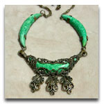 Art Deco Green Necklace