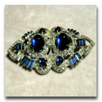 Blue Bagette Pin