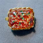 Square Opal Clasp