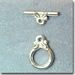 Small Silver Toggle Clasps