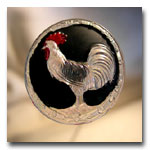 Iridescent White Rooster Hatpin