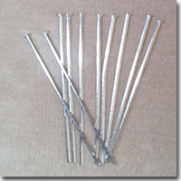 2 Inch Silver Plated Headpins