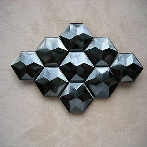 Multi Faceted Gunmetal Ornament