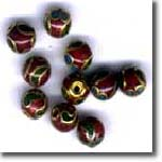 Red  Cloisonne Half Drills