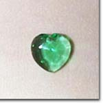 Green Faceted Heart