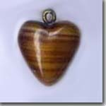 Brown Glass Heart
