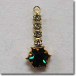 Emerald Rhinestone Drop