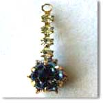 Lite Blue Rhinestone Drop