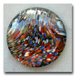 Faceted End-O-Day glass disk