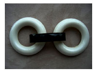 Antique  White Glass Buckle