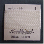 #14 White Nylon Bead Cord
