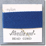 #8 Blue Nylon Bead Cord