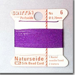 #8 Purple Silk Bead Cord