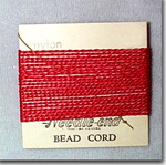 #8 Red Nylon Bead Cord