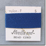 #5 Blue Nylon Bead Cord