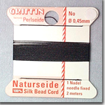 #2 Black Silk Bead Cord