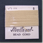 #8 Cream Silk Bead Cord