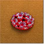 Red Floral Stone