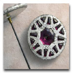 Amethyst Hatpin with Pierced Setting