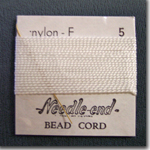 #5 White Nylon Bead Cord
