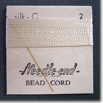 #2 White Silk Bead Cord