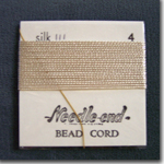 #4 Cream Silk Bead Cord