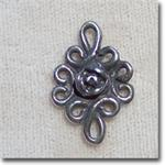 21x14mm Pewter Rose